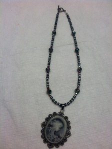 Hand-made necklace that's rather Vampire Diaries-esque